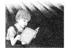 Coloriage lire un livre