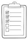 Coloriage liste sur presse-papiers