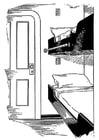 Coloriage lit - cabine sur bateau