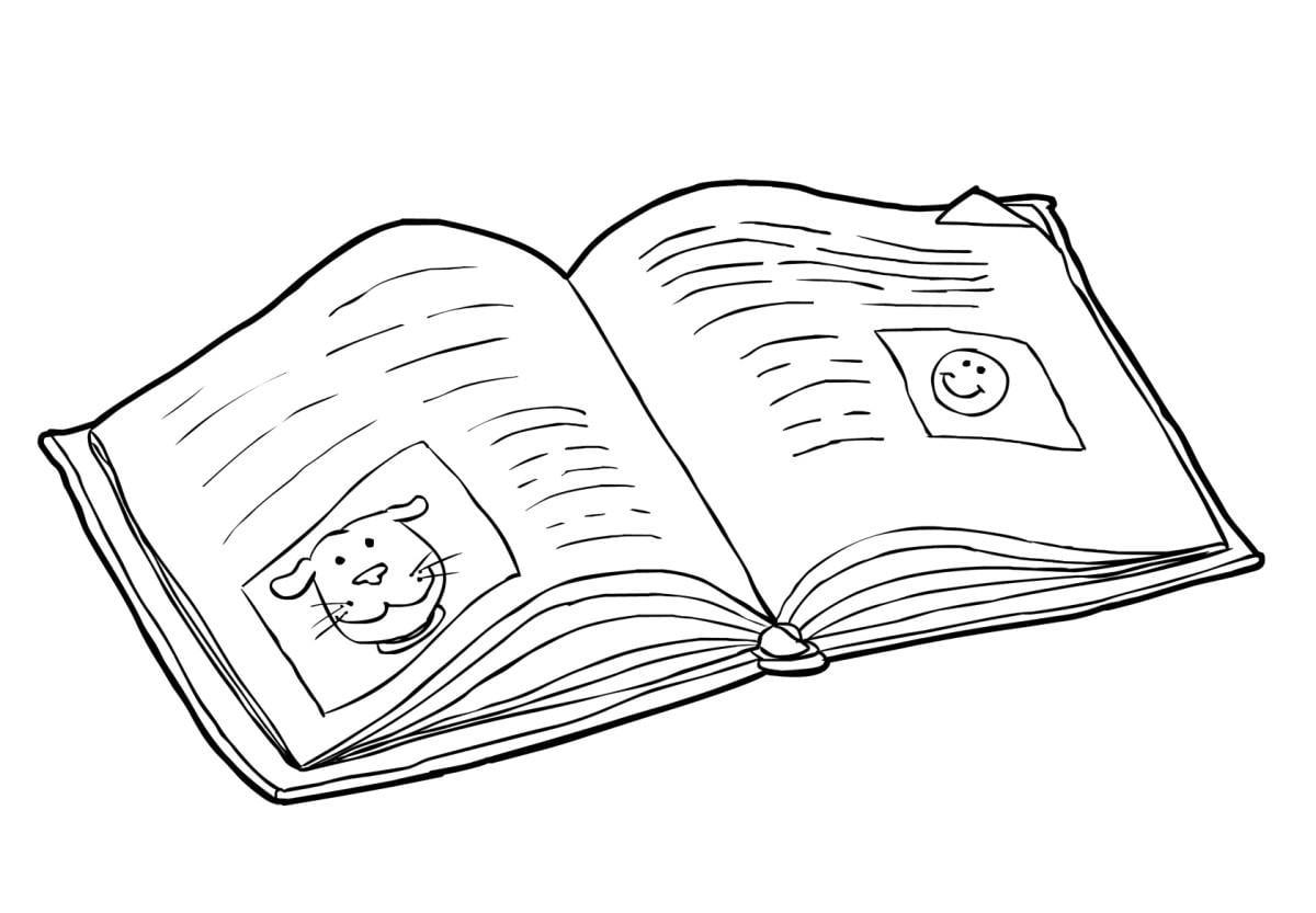 Coloriage livre - lire (2) - img 14824 Images