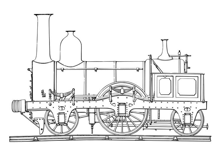Coloriage locomotive vapeur img 19047 - Locomotive dessin ...