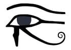 Coloriage l'oeil d'Horus