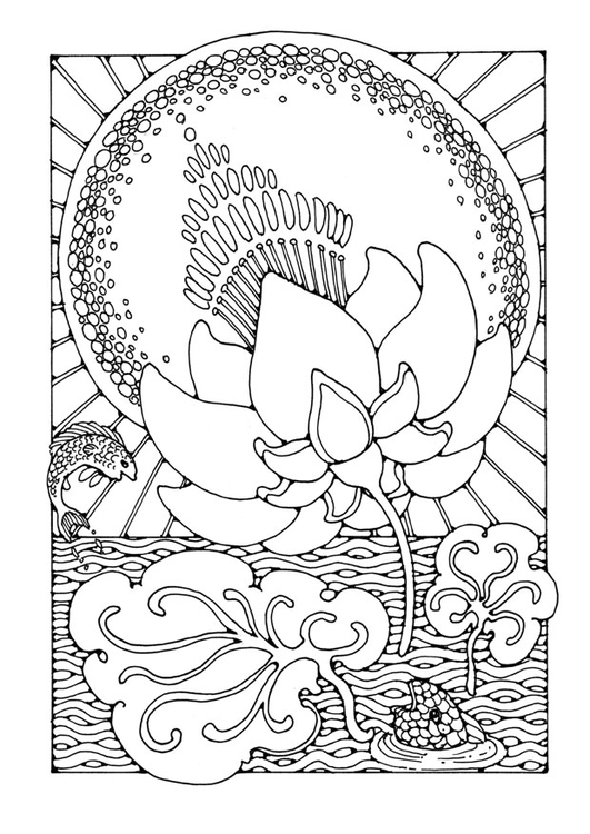 Coloriage lotus