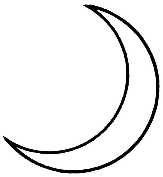 Coloriage lune img 15709 - Dessin de lune ...