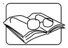 Coloriage lunettes de lecture