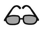 Coloriage lunettes de soleil