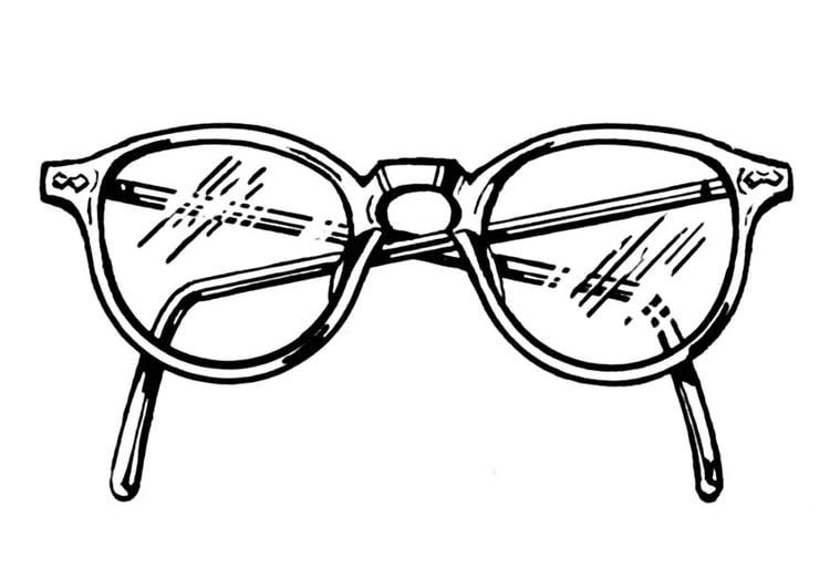 Dessin De Lunettes coloriage lunettes - img 18745