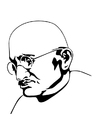 Coloriages Mahatma Gandhi