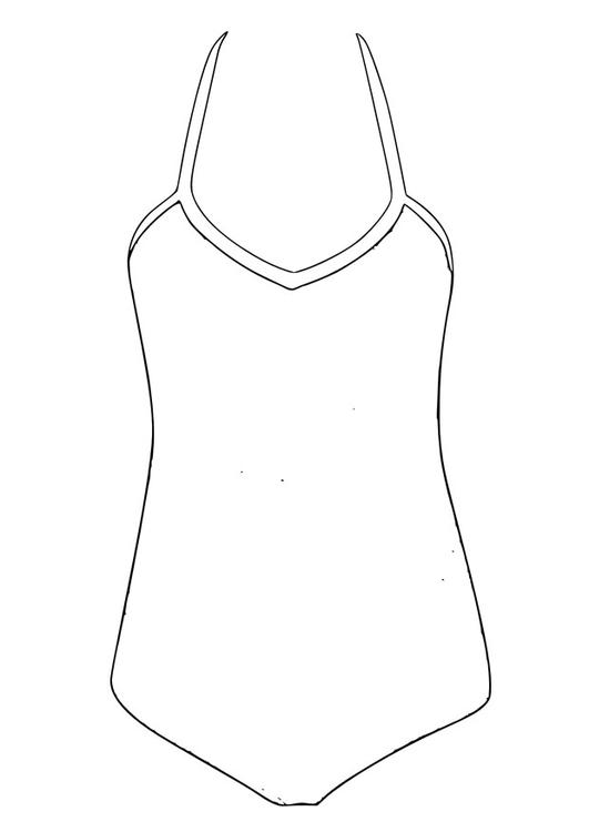 Swimsuit Coloring Page