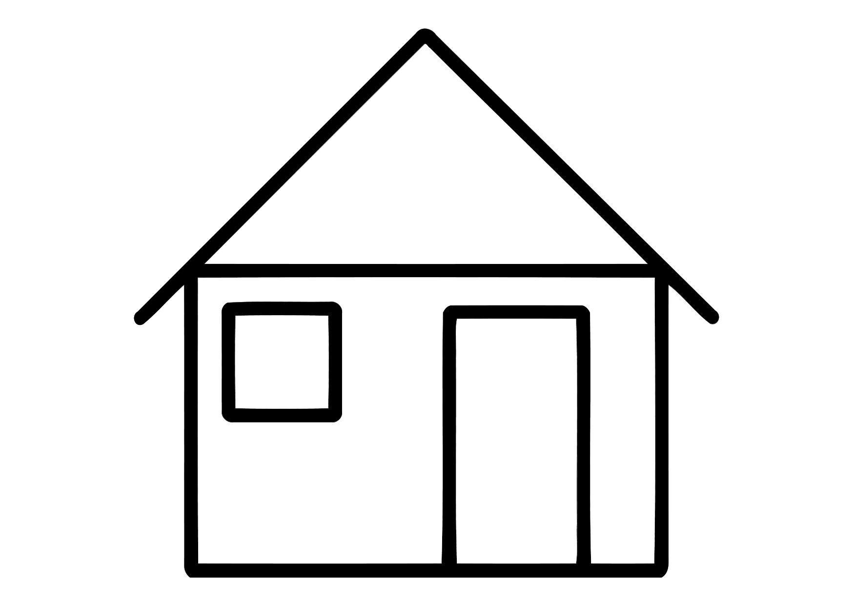Coloriage maison img 11324 - Image maison dessin ...