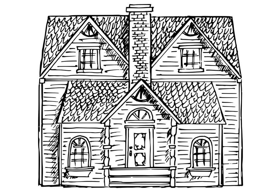 Coloriage maison img 17060 for Image maison dessin