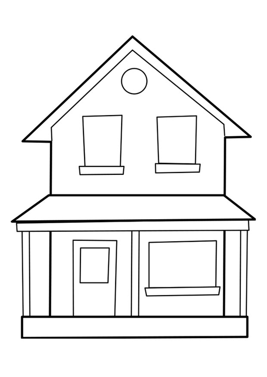 coloriage maison  coloriages gratuits à imprimer  dessin