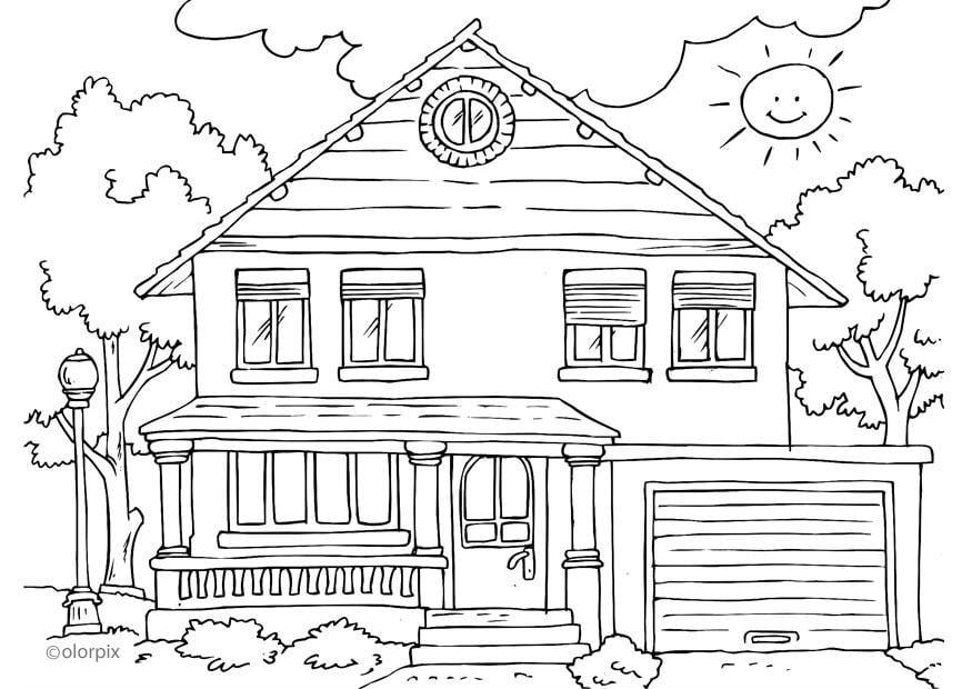 Coloriage Maison Ext Rieur Img 26230