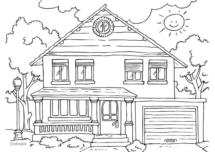Coloriage maison ext rieur img 25996 for Dessin de maisons