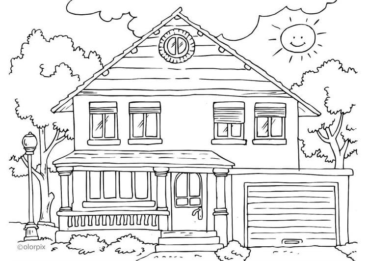 coloriage maison extrieur - Maison A Colorier