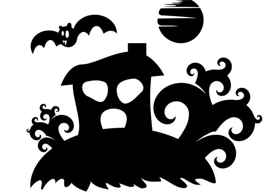 Coloriage maison hant e img 22979 - Dessin de maison hantee ...