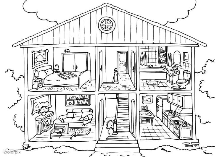 Coloriage maison int rieur img 25995 for Interieure maison