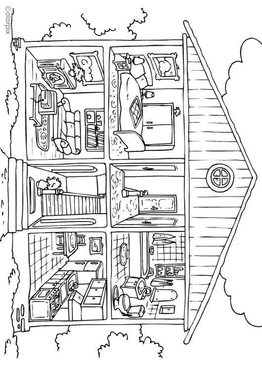 coloriage maison int rieur img 26229. Black Bedroom Furniture Sets. Home Design Ideas