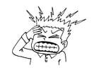 Coloriage mal de tête