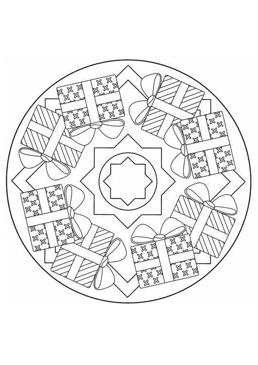 Coloriage mandala de Noël - img 4403
