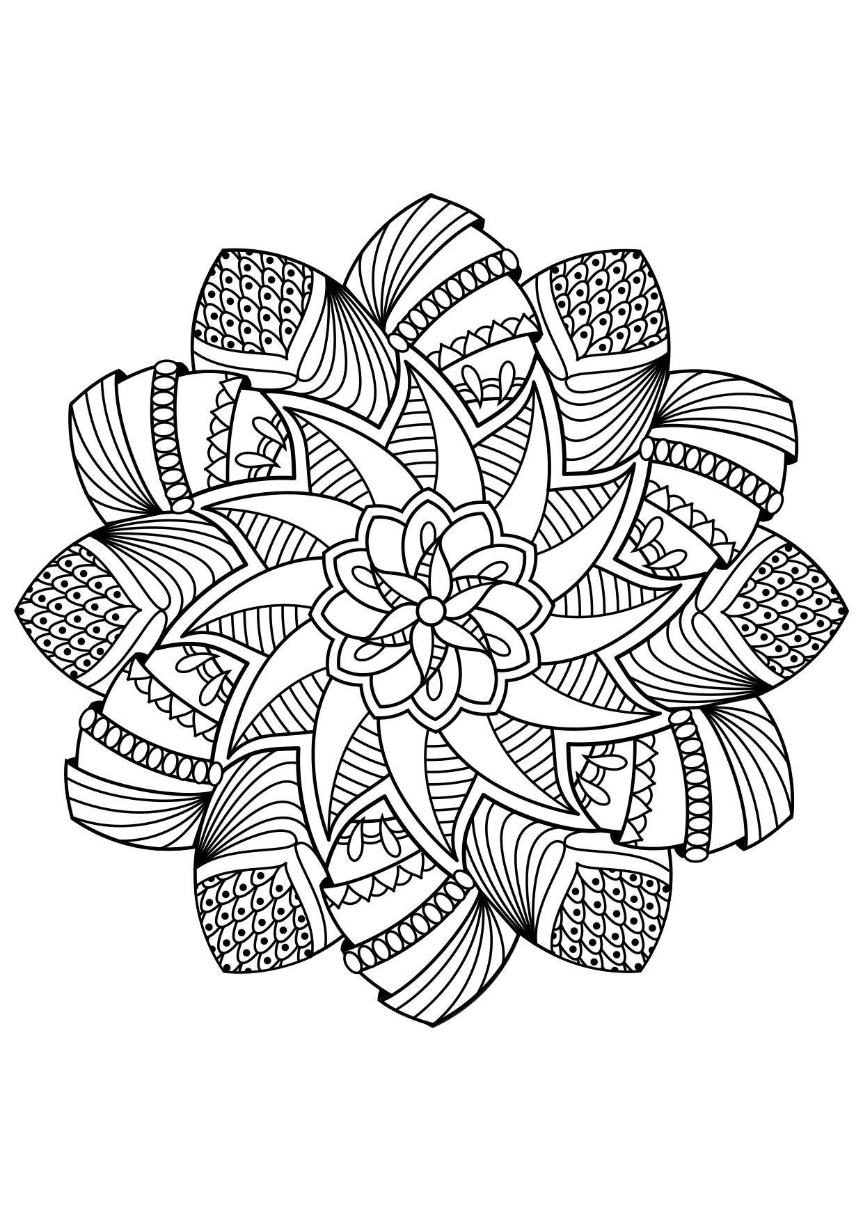 Coloriage Mandala   Coloriages Gratuits à Imprimer   Dessin 32