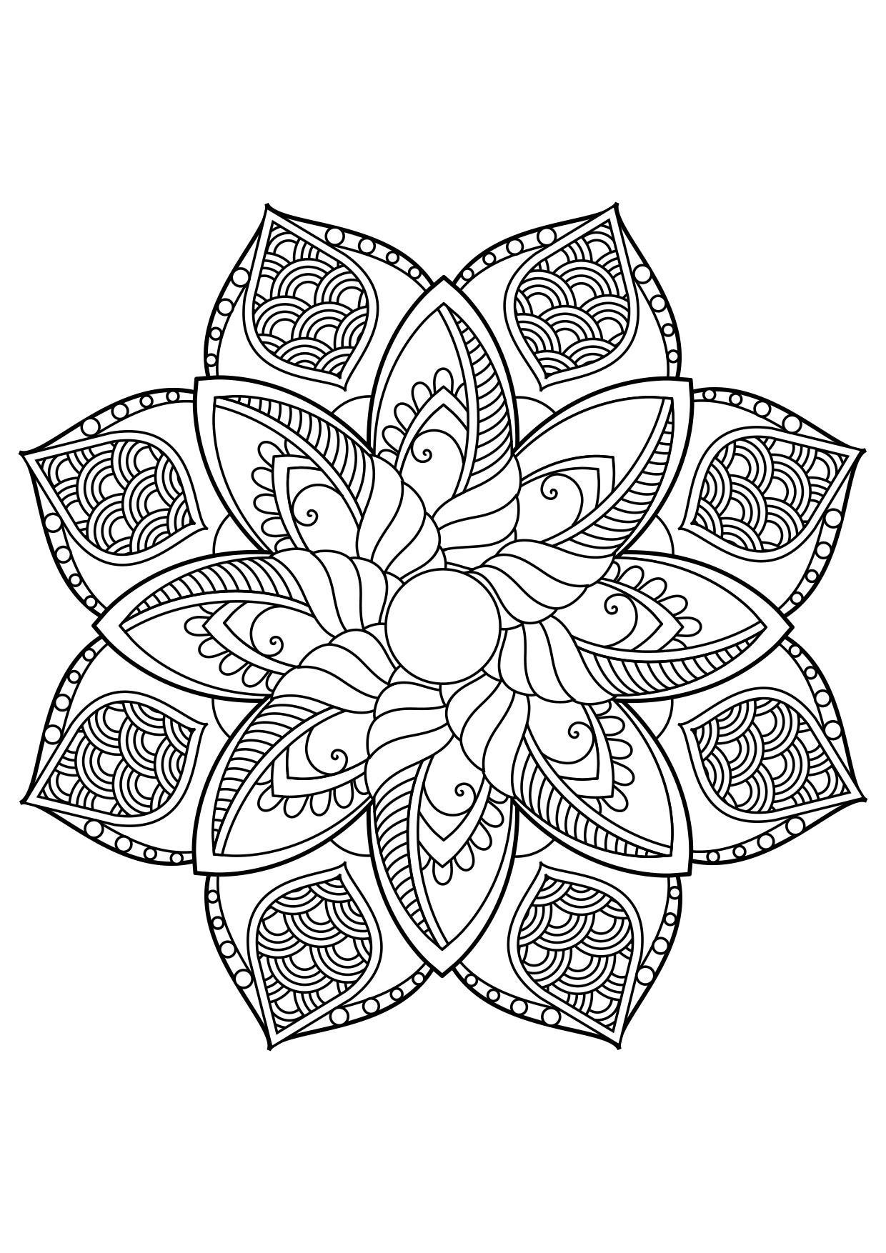 Coloriage Mandala - Coloriages Gratuits à Imprimer