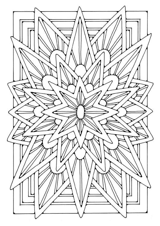 Coloriage Etoile Mandala.Coloriage Mandala Etoile Img 21906
