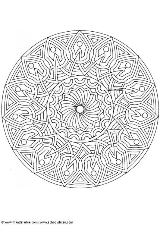 Coloriage Mandala W4 Img 4541