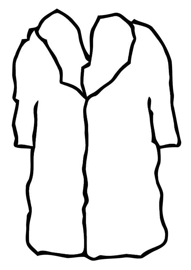 Coloriage manteau de fourrure img 19358 - Manteau dessin ...