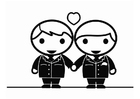 Coloriage mariage d'homosexuels - Holebi