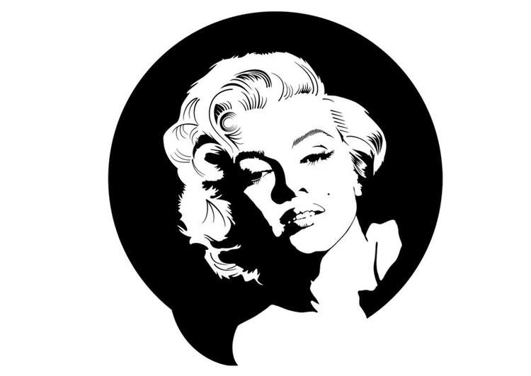 Coloriage Marilyn Monroe