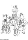 Coloriage marionnette