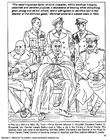 Coloriage Marshall, Churchill, Roosevelt, Staline, Portal