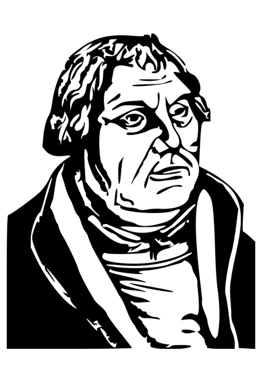 Coloriage Martin Luther