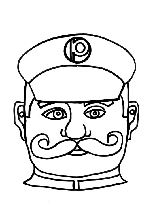 Coloriage Masque Clown.Coloriage Masque D Agent De Police Img 9184