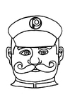 Coloriage masque d'agent de police