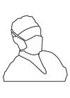 Coloriage masque de bouche