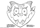 Coloriage masque de dragon