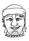 Coloriage masque de pirate