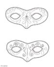 Coloriage masques