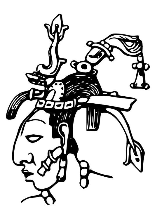 Coloriage Maya Pacal Img 28127 Images