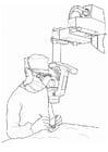 Coloriage médecin - opération