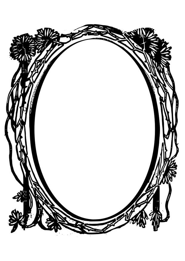 Coloriage miroir img 28075 for Miroir coloriage