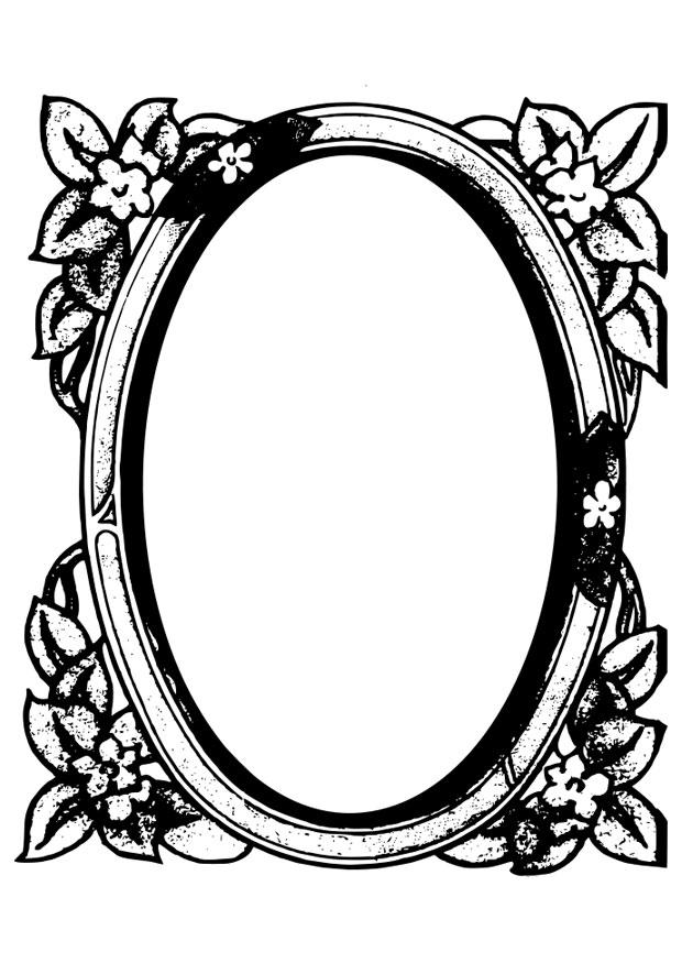 Coloriage miroir img 28087 for Miroir coloriage
