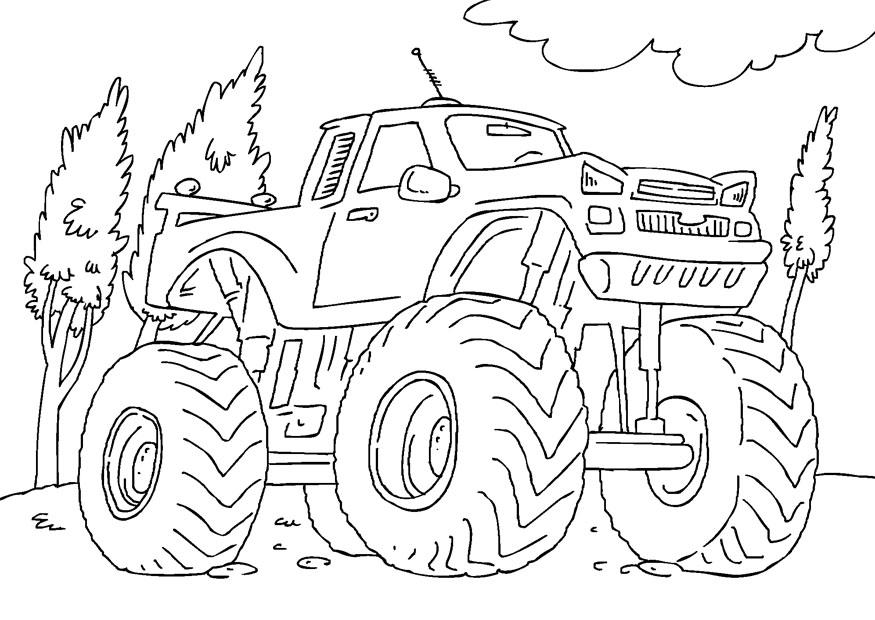 Monster Truck Coloring Pages Com