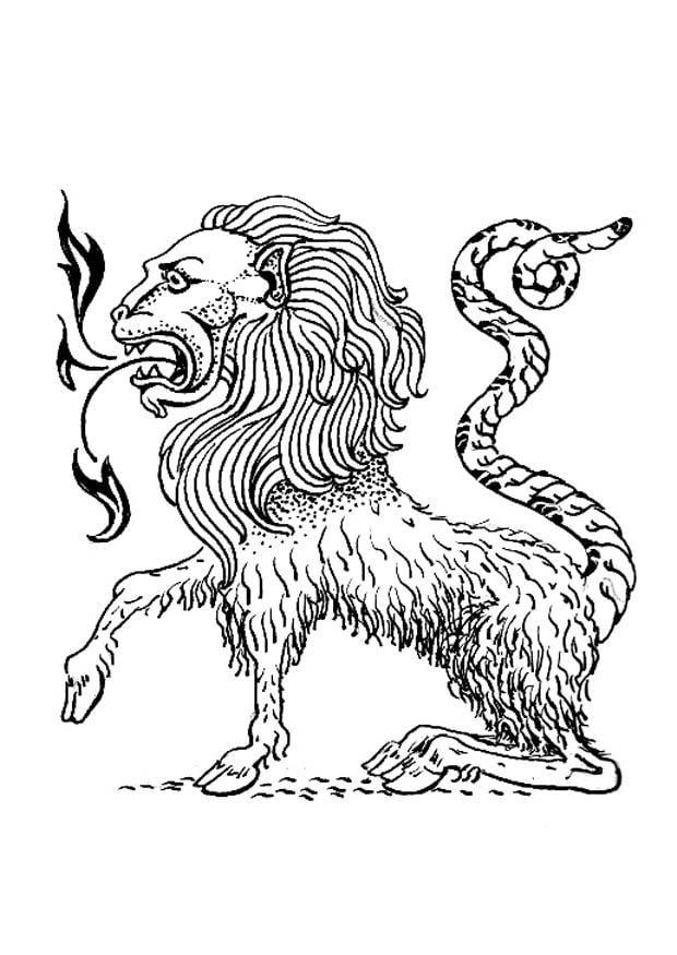 Coloriage Monstre Chimere Coloriages Gratuits A Imprimer Dessin 18981