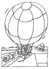 Coloriage montgolfière