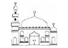 Coloriage mosquée