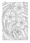 Coloriage motif floral