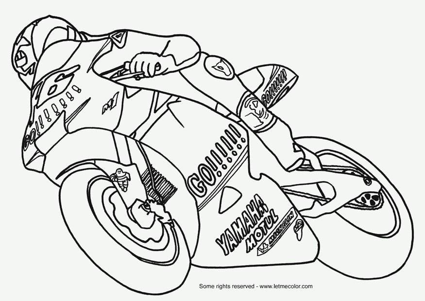 Dessin colorier moto - Coloriage motos ...